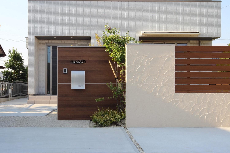 風格のある家を引き立てる新築セミクローズ外構(清須市Y様邸)